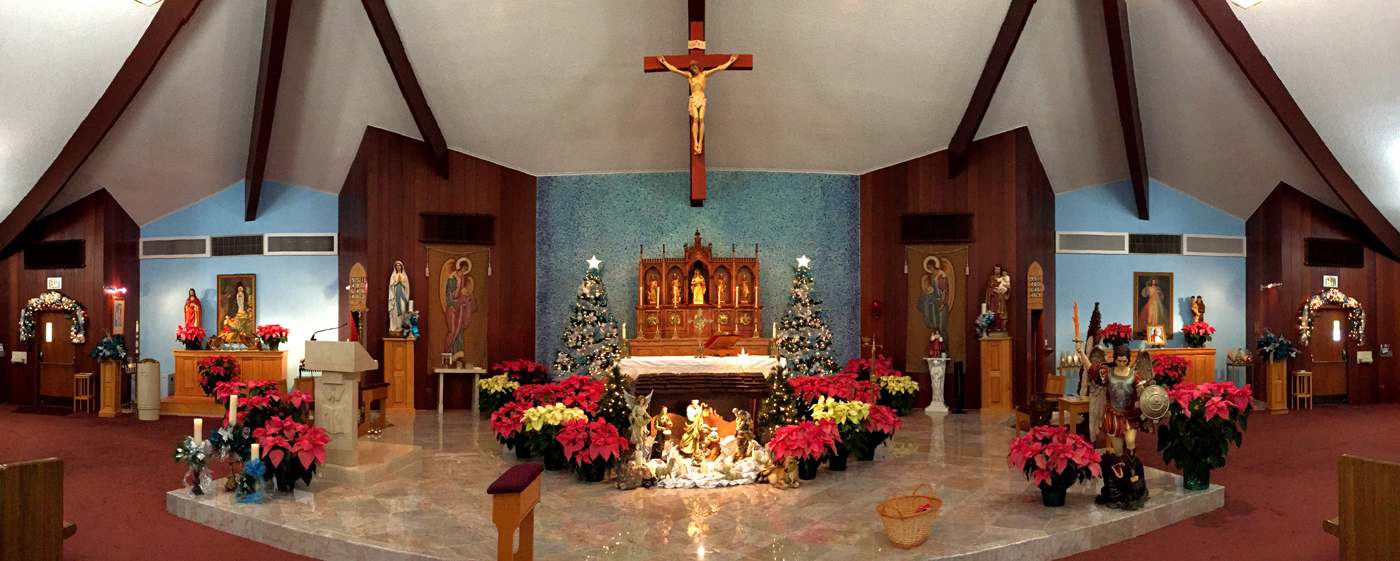 2015 Christmas Altar - Merry Christmas and Happy New Year